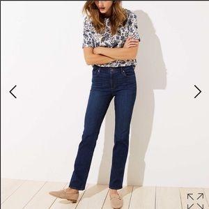 NWT LOFT Modern Bootcut Jeans - Dark wash - 6 / 28